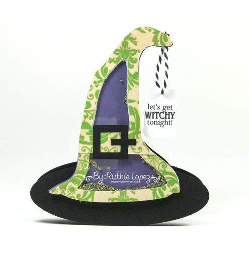 The Cutting Cafe - Witch Hat Shaker Card - Ruthe Lopez