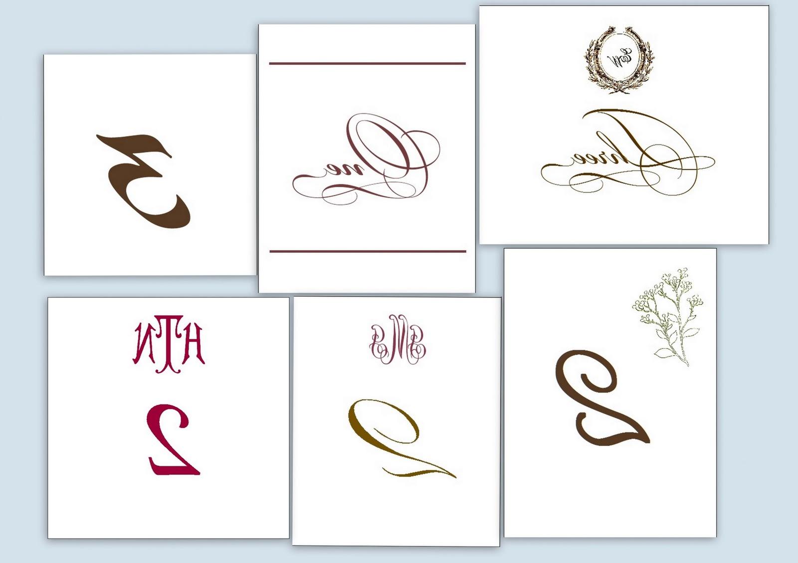 DC Wedding calligraphy,