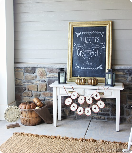 thanksgiving chalkboard and porch