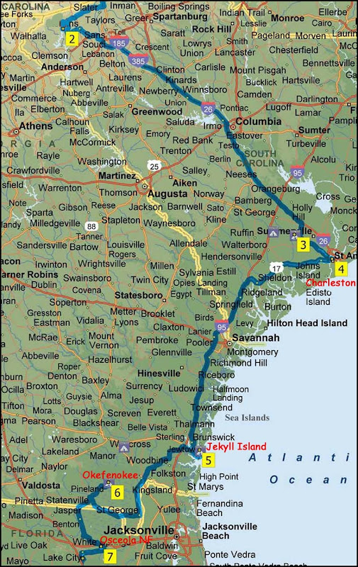 Map1 - SC to FL