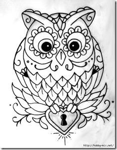 dibujos de buhod en blanco y negro (24)