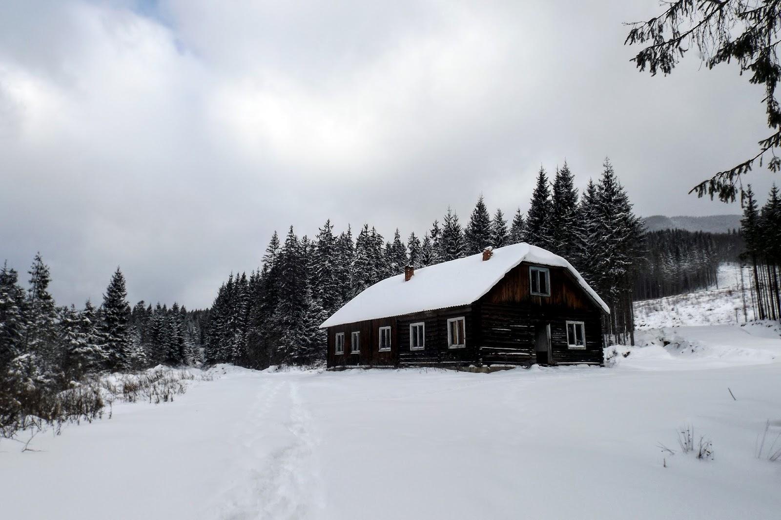 Закинутий гуртожиток лісорубів біля підніжжя Аршиці, Хатка , Аршиця
