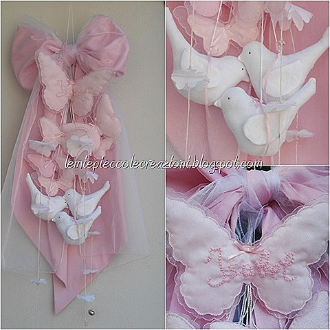 fiocco nascita_farfalle_rosa