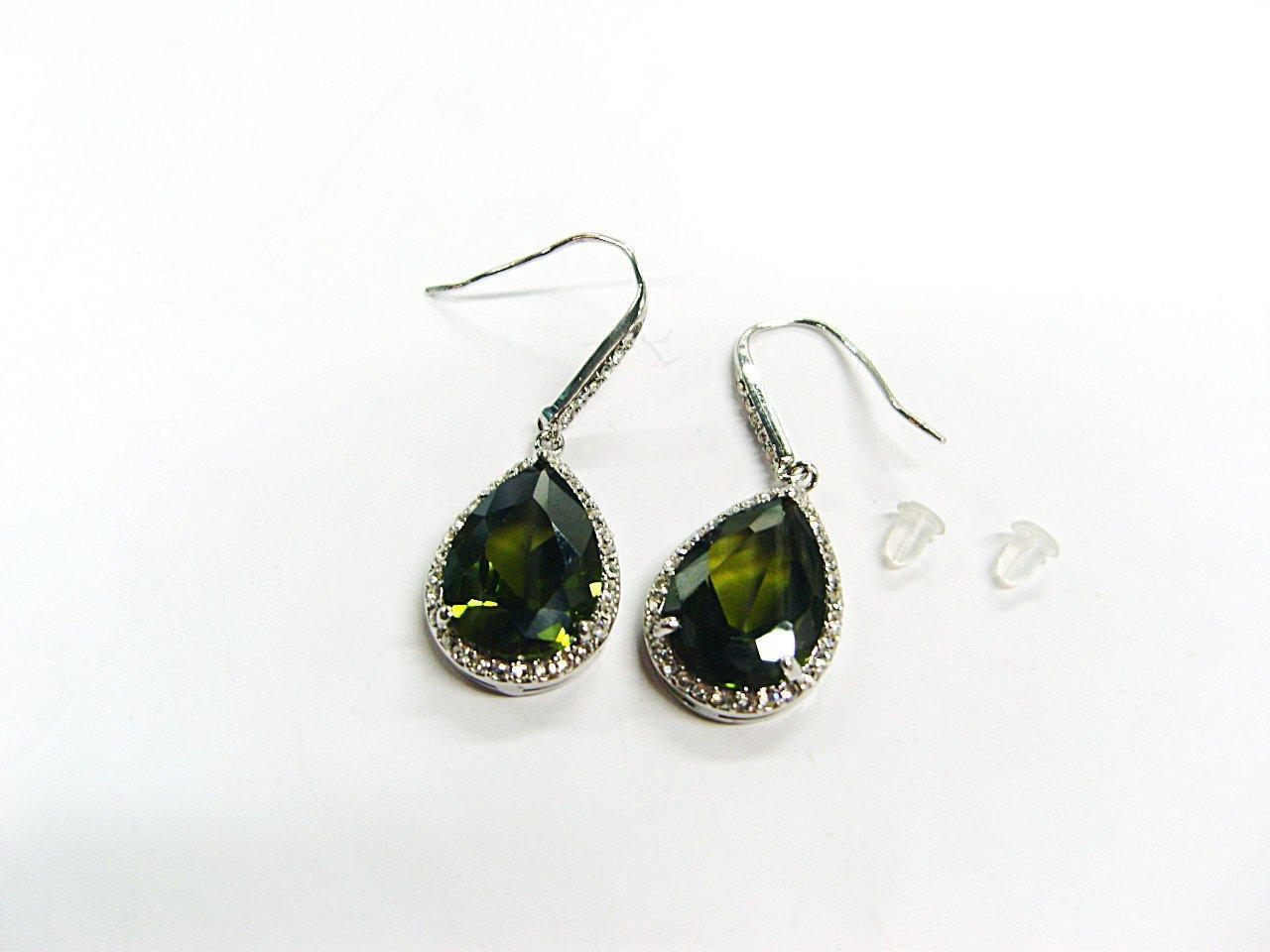 platinum wedding earring