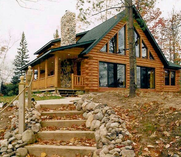 Casas de madera natural troncos macizos encanto r stico - Casas de madera natural ...