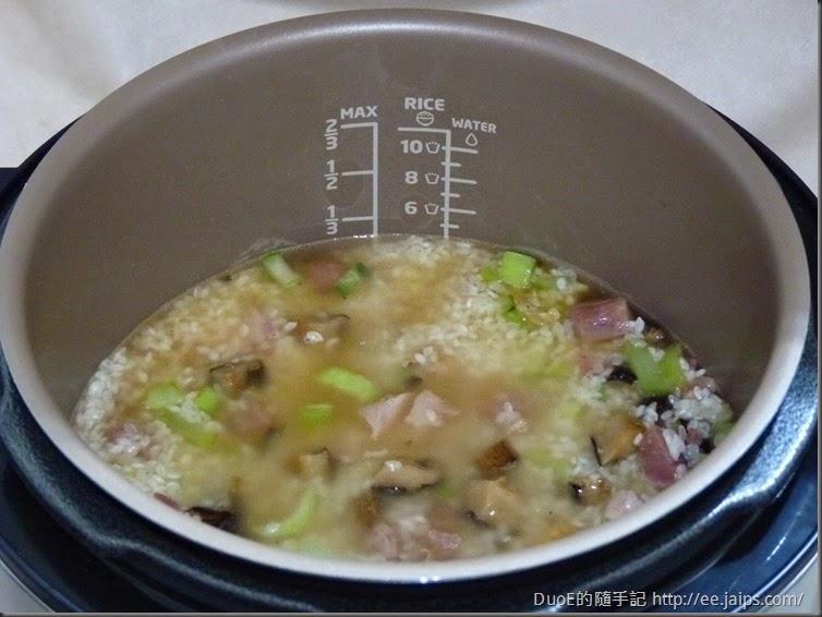 簡易版上海菜飯-水量