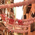 ulice Malagi przystrojone na ferie