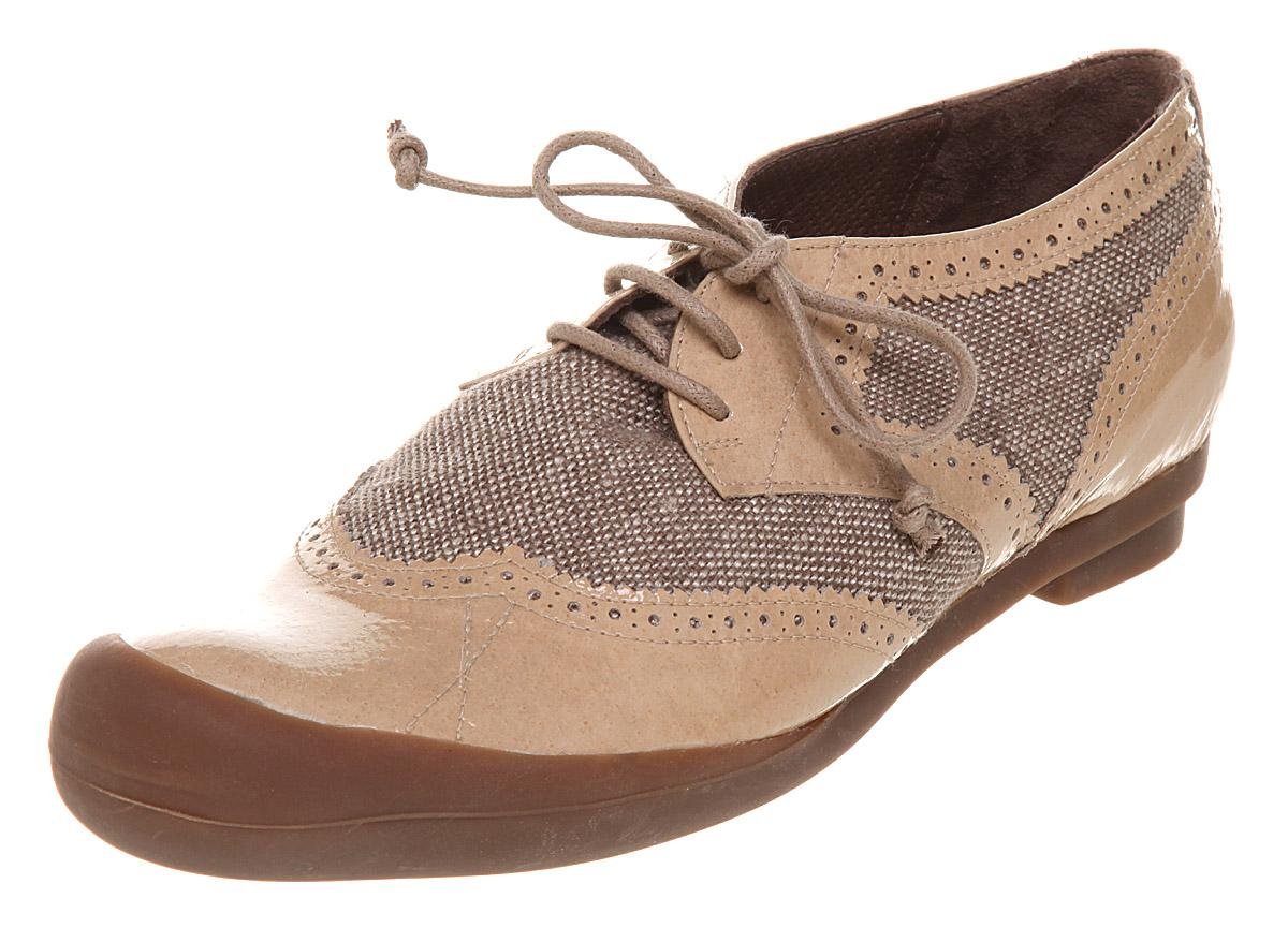 Womens Tn29 Flat Lace Up Shoe Beige Tex pt Designer