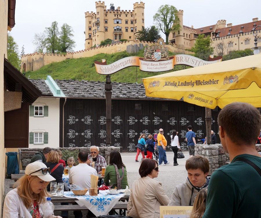 Обед с видом на замок Хоэншвангау