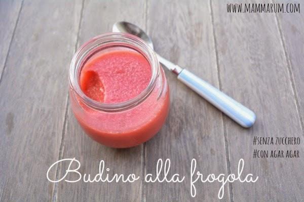 budino fragola agar agar senza zucchero