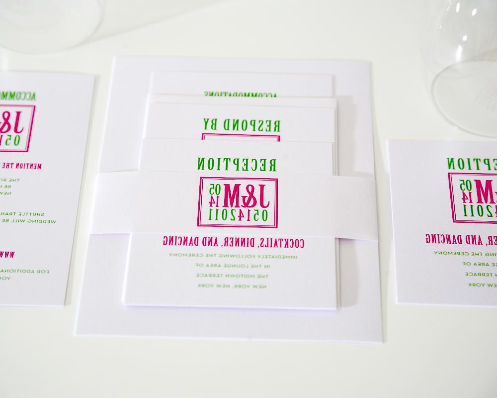 Squared Monogram Wedding