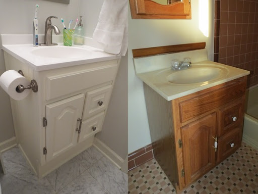 Guest Suite & Hello Kirsti: Bathroom Vanity Upcycle