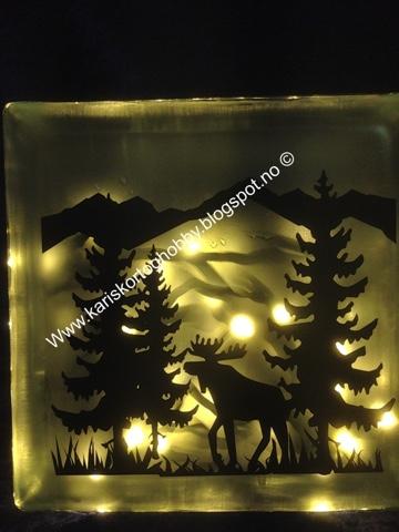 hvordan lage lampe av glassbyggerstein