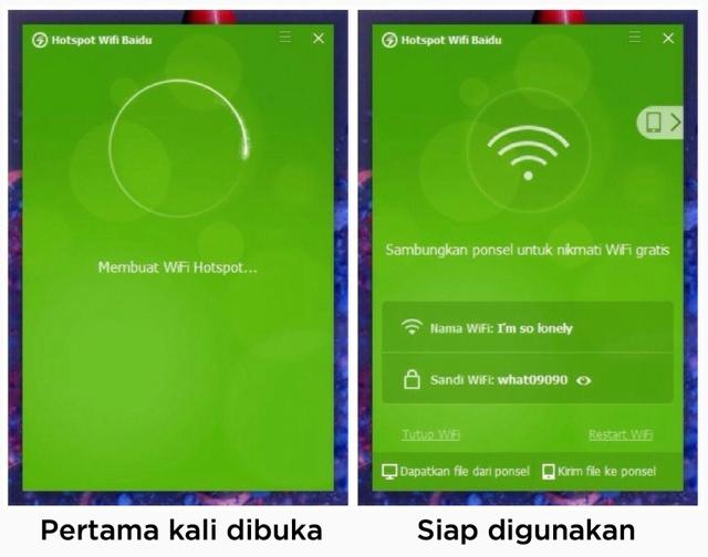 cara sharing wifi laptop ke hp