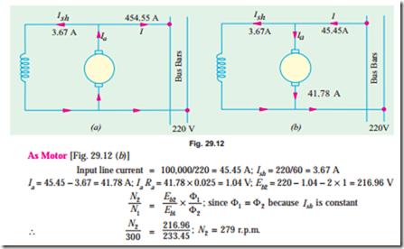 Can dc shunt motor run on ac supply for Dc motor horsepower calculator