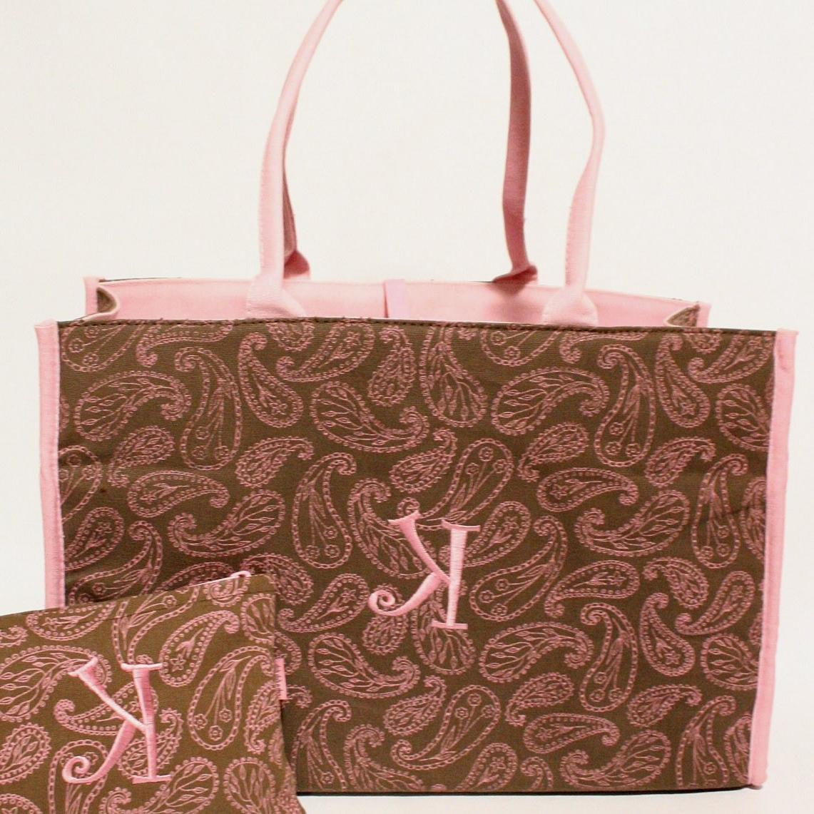light pink monogram