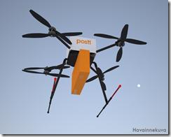 Posti kokeilee verkkokauppatoimituksia robottikopterilla Suomenlinnaan