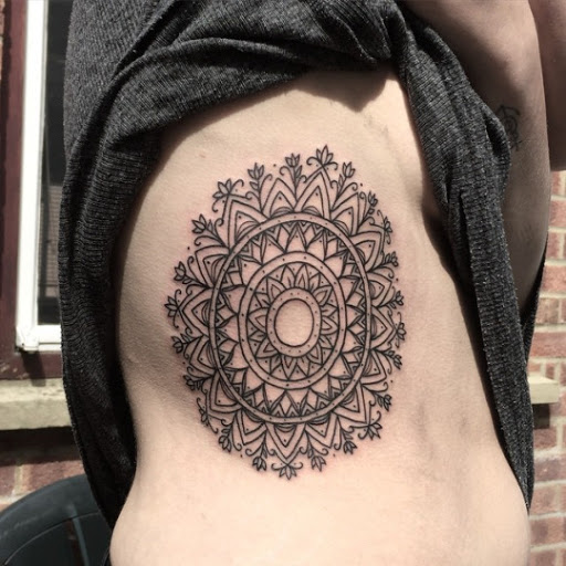 A Colorful Mandala Tattoo Design Covering Full Left Sleeve Of Man This Is One The Best Thinking For Designs