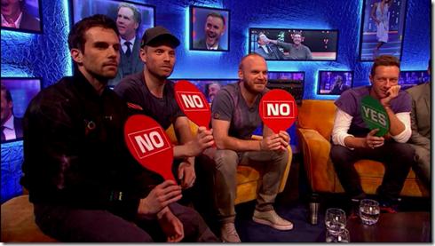 The Jonathan Ross show Coldplay Simon Pegg6