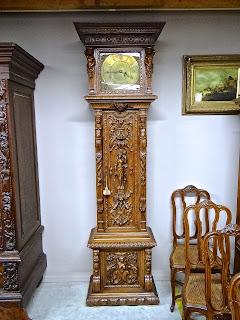 Резные напольные часы. ок.1870 г.