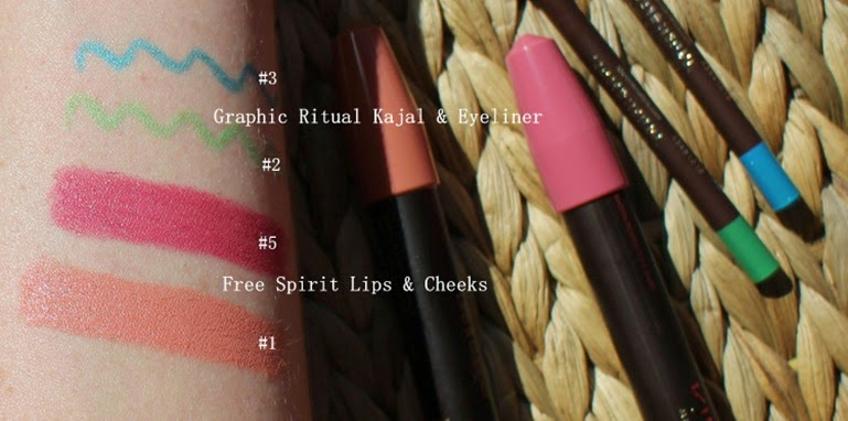 KIKO-Free-Spirit-Lips Cheeks-swatches-1-5,Kiko-Graphic-Rituals-swatches-3-2