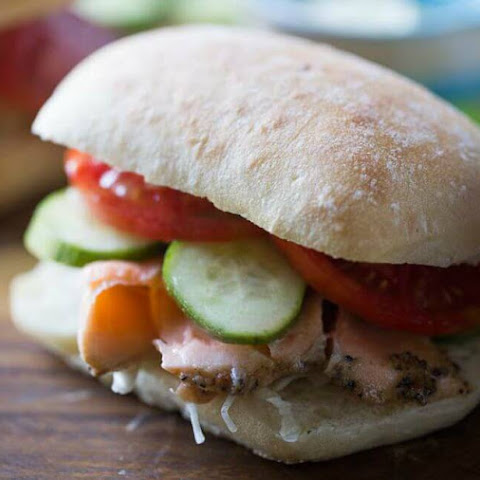 Asian Salmon Sandwich