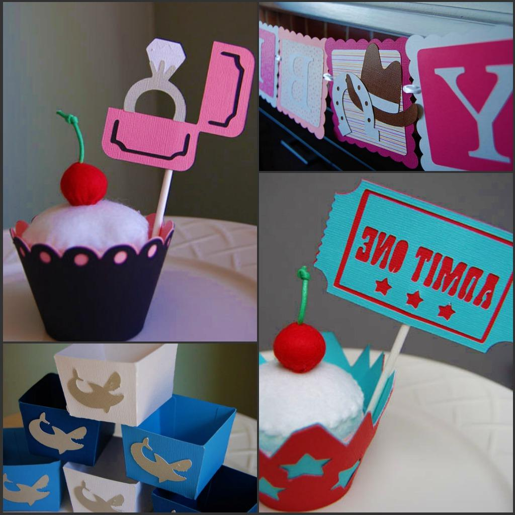 Cupcake toppers, banners