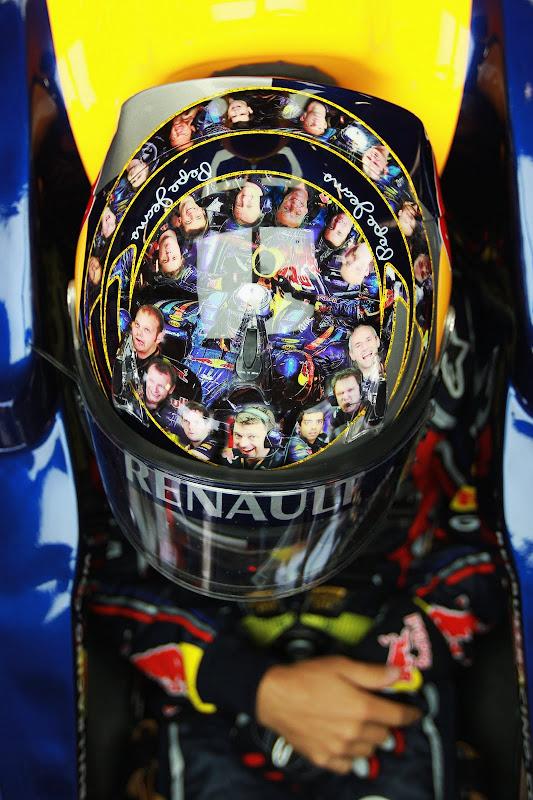 Новый шлем Себастьяна Феттеля для Гран-при Великобритании 2011