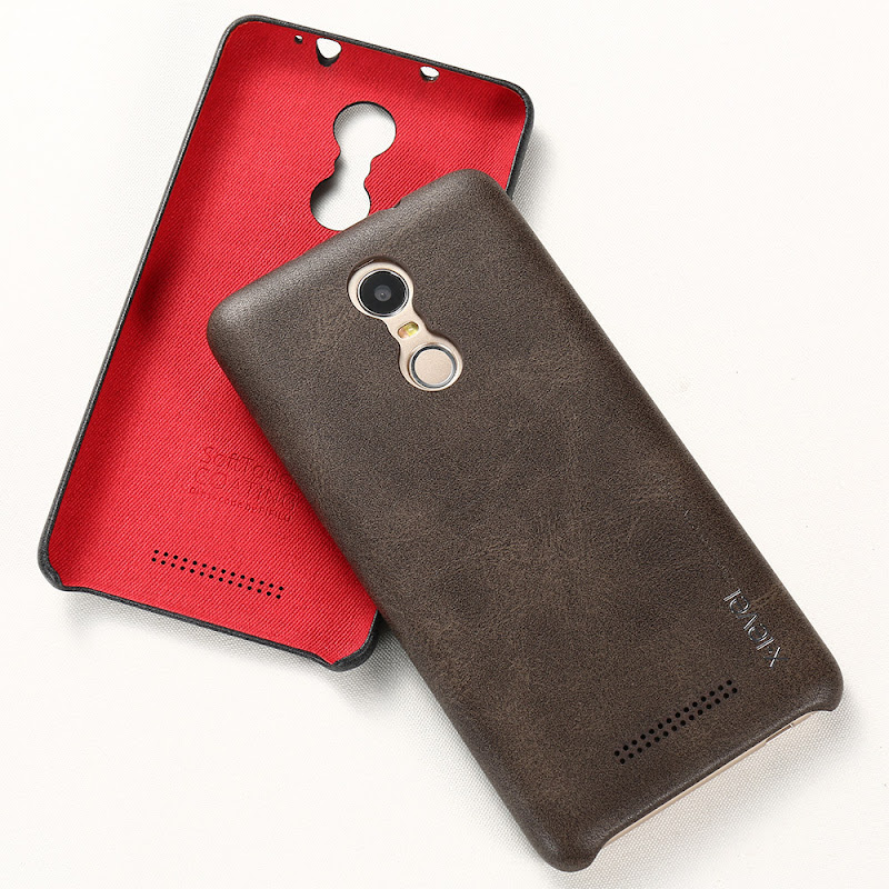 Image of X-level Luxury Vintage PU Leather Phone case for Xiaomi redmi note 3 Back cover case for redmi note 3