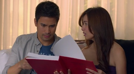 Sam Milby and Jennylyn Mercado in The PreNup