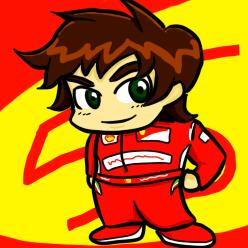 анимешная аватарка Фернандо Алонсо by bule