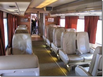 IMG_2792 Amtrak Cascades Talgo Pendular Series VI Coach Class Interior at Union Station in Portland, Oregon on May 8, 2010