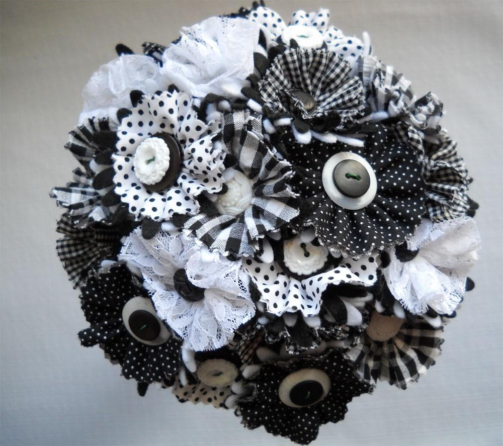 Black and White Button Lace