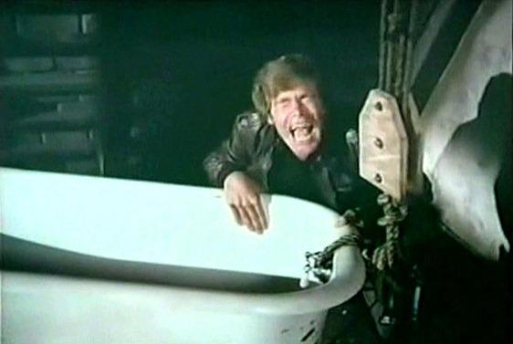 34. the tub lands on Harrys leg