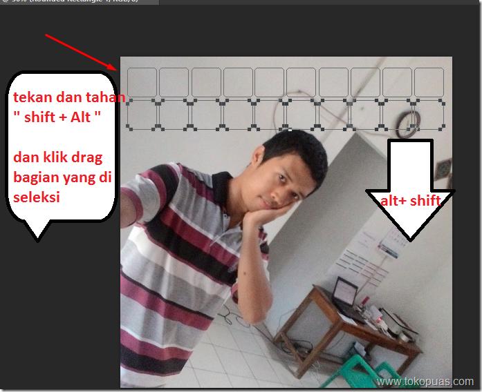 tutorial efek photoshop kotak in heart
