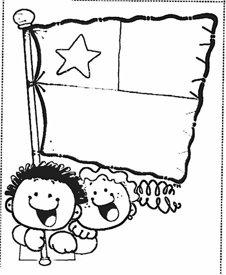 bandera chile colorear