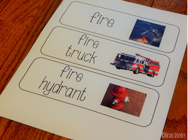 Fire Safety Vocabulary