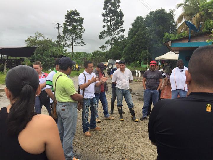 Protesta de comunidades y trabajadores en oleoducto Bicentenario