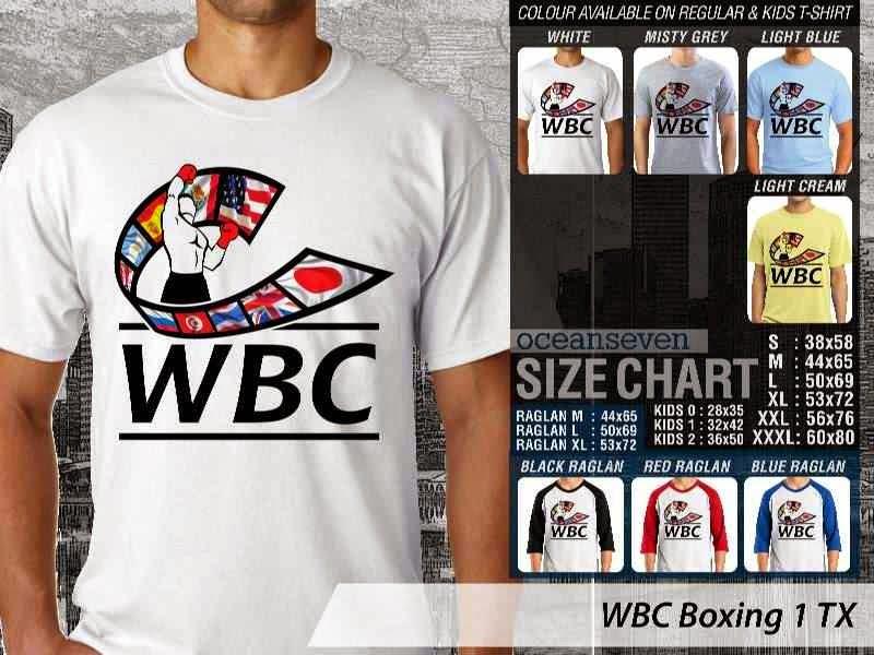 Kaos Olah Raga Sport WBC Boxing 1 distro ocean seven