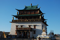 W tym niepozornym (ale dla Mongołów bardzo ważnym) budynku znajduje się...