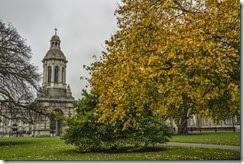 Trinity College en otoño (Dublín)