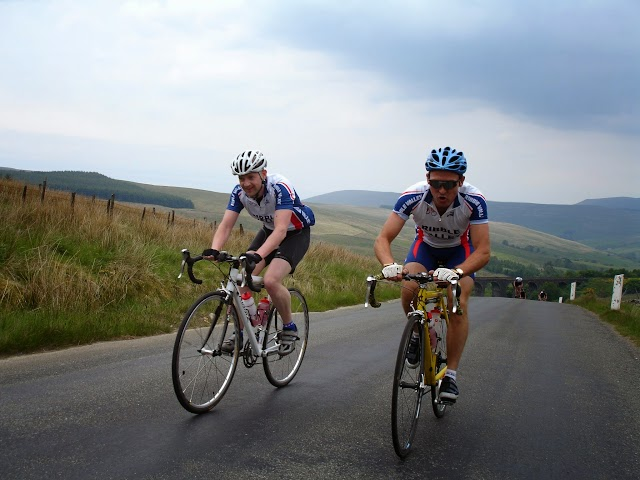 RVCRC Fleet Moss Audax - Climb from Dent Head Viaduct - Simon & Dave