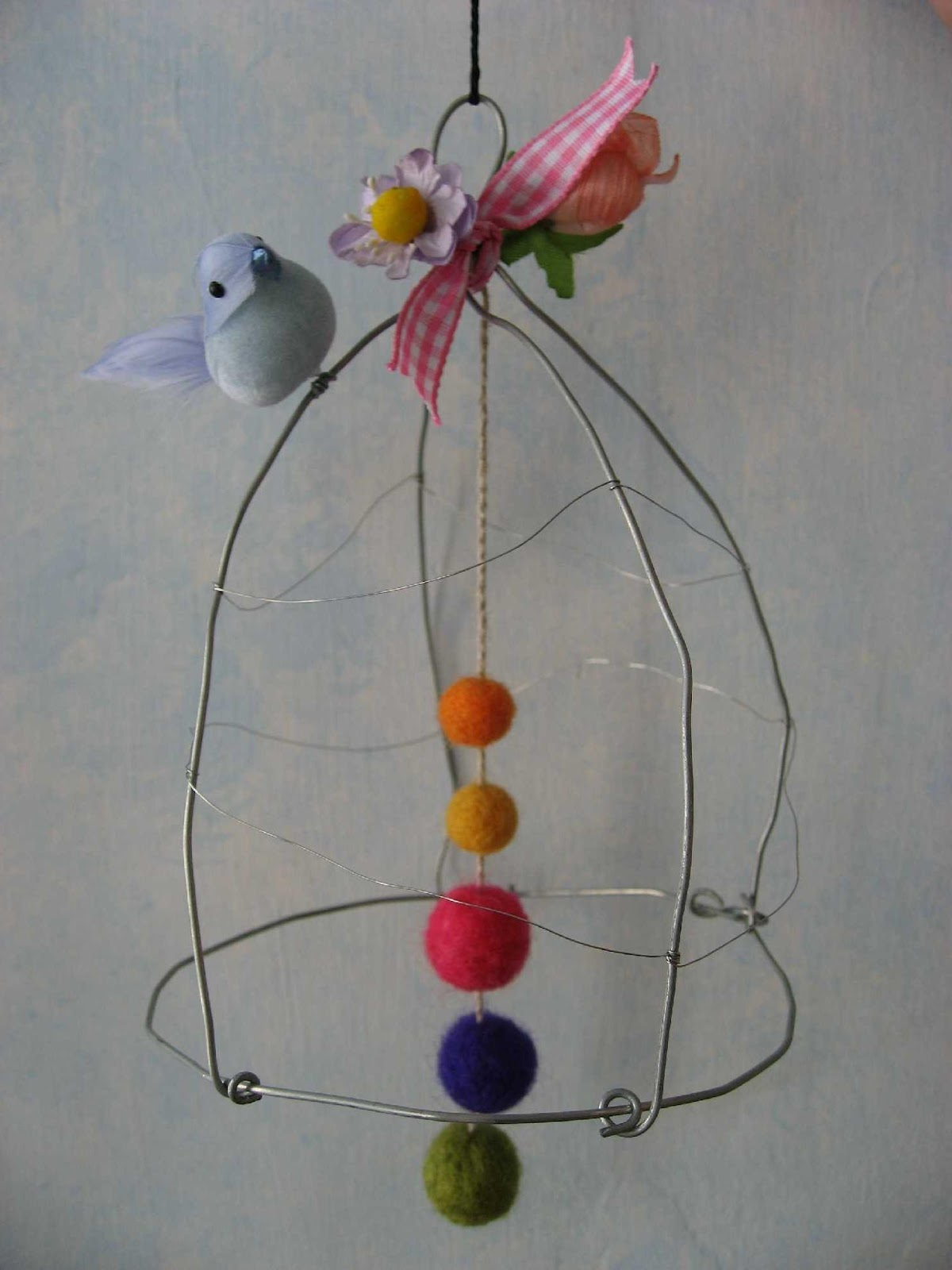 Blue Baby Bird Cage Mobile