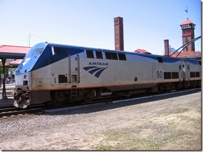 IMG_6058 Amtrak P42DC #90 at Union Station in Portland, Oregon on May 9, 2009