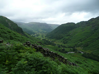 Borrowdale from ascent of Eagle Crag