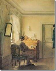 Georg Friedrich Kersting - Mann an Sekretär (1811)