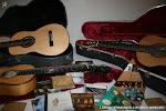 Guitarras de Daniel Bernaert y una muestra de los guitarristas que utilizan sus guitarras
