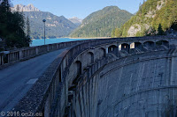 Die Staumauer des Lago di Sauris.