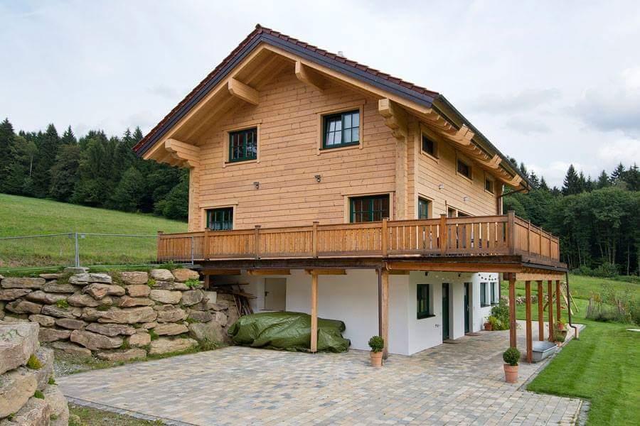 casas de madera natural tronco macizo cuadrado