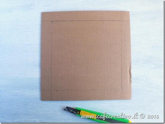 come fare cornice cartone e carta - tutorial by cafecreativo (2)